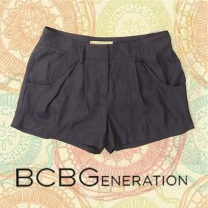 Stormy Sky Pleated Trouser Shorts by BCBGeneration